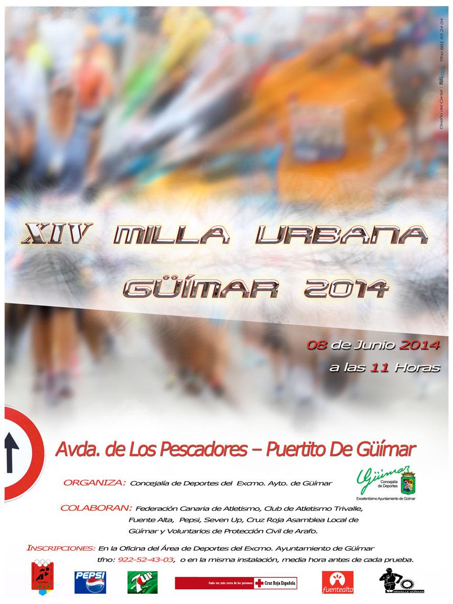Cartel XIV Milla Urbana Güïmar 2014