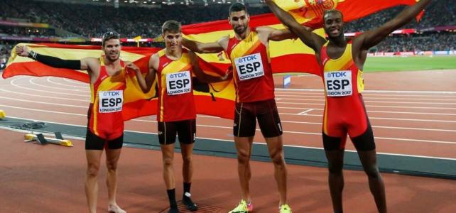 Récord de España y 5º puesto mundial para el 4×400 de Samuel y Darwin